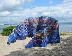 arunkumar H G builds bottle cap pavilion with 70,000 disused plastic pieces