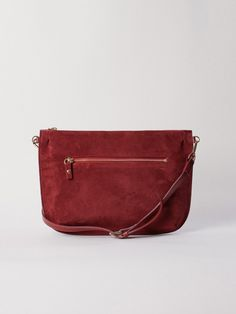 Whyred Ona Suede Oxblood Red