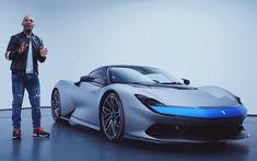 VIDEO: Pininfarina's hyper-EV Battista in levenden lijve pk) Electric Sports Car, Vehicles, Design, Amazing Cars, Futuristic, Autos, Rolling Stock, Vehicle