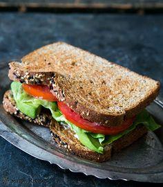 Avocado Lettuce Tomato Sandwich (ALT) ~ no need for bacon in this avocado sandwich! On SimplyRecipes.com