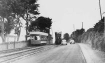 Two Trams at Barren Hill, Howth Fingal Photography Collection End Of The Line, Laurel And Hardy, Photo Engraving, Old Video, Black And White Photography, Dublin, Old Photos, Ireland, Street View