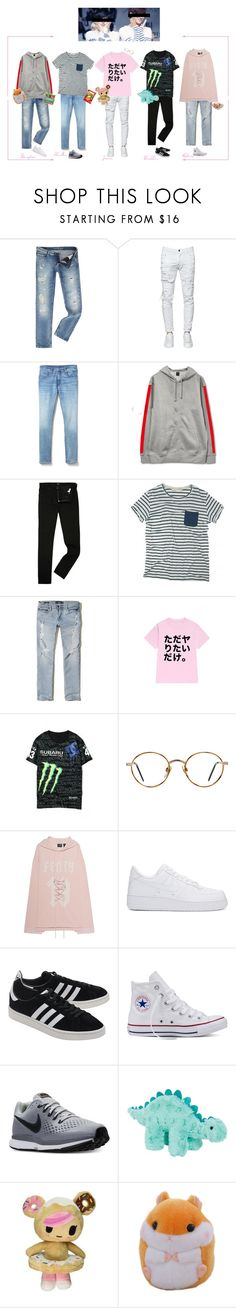 """""""PTX Jeju Fansign"""" by purrfectas ❤ liked on Polyvore featuring Calvin Klein, Dsquared2, Gap, Lee, Hollister Co., WithChic, GlassesUSA, Puma, NIKE and adidas Originals"""