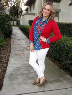 Red, White, & Blue outfit for a 4th of July party