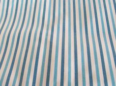 Vintage Fabric Turquoise Aqua Blue White Stripes Striped Fat Quarter Dollhouse Miniatures Doll Making