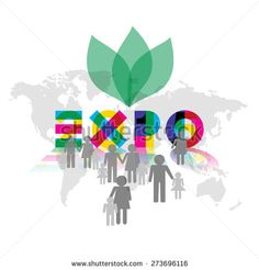 #EXPO Milan - universal exhibition with visitor icons