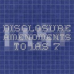 Disclosure amendments to IAS 7