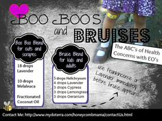 B is for Boo Boo's and Bruises: Essential Oils for the Owie Moments by honeycombmama