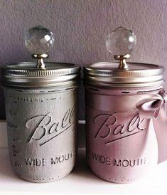 DIY Gorgeous Shabby Mason Jar Storage Transformation