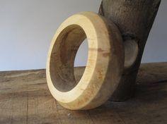 Spalted Maple Wooden Bangle Bracelet 5th by psItsDebbie on Etsy