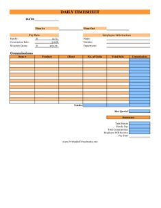 daily time sheets