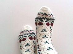 Organic Wool Socks100  Natural Organic Wool  by missismilena, $25.00