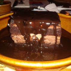 Brownie del Foster's Hollywood, delicioso.