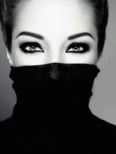 eyes and eye brows @Mary Taber Izabeth  Check this out! Though she covered half of her face, you can tell she's beautiful because of her eyes and brows. Agree?