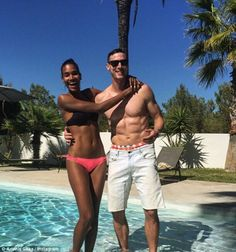 Newlyweds: The couple are seen in a snap from their recent trip to Spain