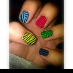 Stripe #nails
