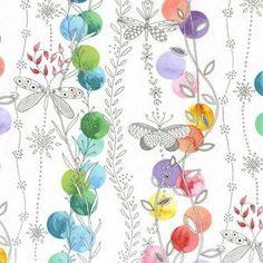 Flight Patterns by Tamara Kate for Michael Miller - Patio Lights in Multi (Watercolor Butterflies) - 1 yard - DC6108-MULT-D
