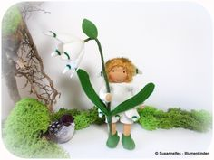 Jahreszeitentisch - Märzenbecher Blumenkinder Jahreszeitentisch - ein Designerstück von susannelfe bei DaWanda