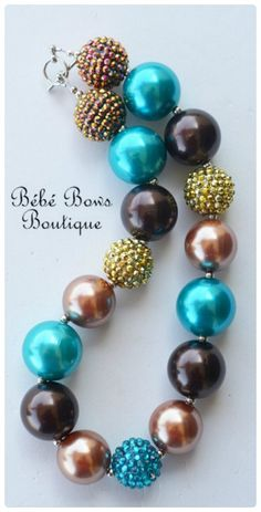 Merida Inspired Chunky Necklace by BebeBowsBoutiqueBBB on Etsy, $18.00