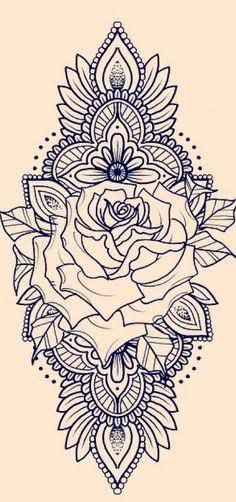 Zadi henna thigh tattoo, henna tattoo sleeve, back of thigh tattoo, rose tattoo Henna Tattoo Sleeve, Dotwork Tattoo Mandala, Mandala Rose Tattoo, Back Tattoo, Tattoo Arm, Mandala Sleeve, Henna Thigh Tattoo, Arm Tattoo Ideas, Sunflower Mandala Tattoo