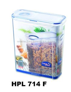 HPL 714F Size 237 x 112 x 280mm 4.3L capacity Keep your snack crisp and crunchy with Lock & Lock products