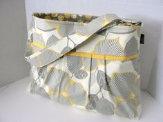 Yellow & Grey Diaper Bag. Homemade. I will be coming up with my own pattern to recreate this for sure!
