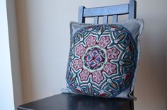 Mandala overlay crochet pillowcase by LillaBjornCrochet on Etsy, $35.00