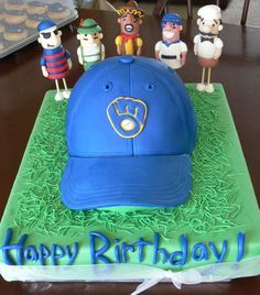Milwaukee Brewers Cupcake Toppers