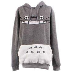 Bonamana Unisex My Neighbor Totoro Hoodie Sweatshirt Casual Pullover ($19) ❤ liked on Polyvore featuring tops, hoodies, jackets, outerwear, sweaters/sweatshirts, pullover top, unisex tops, pullover hoodie, hooded sweatshirt and hoodie top