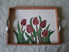 Mosaico Bandeja Mosaic Tray, Mosaic Glass, Stained Glass, Mosaic Crafts, Mosaic Projects, Mosaic Ideas, Vitromosaico Ideas, Ideas Para, Mosaic Flowers