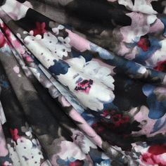 17f19783c46 Twilight Floral Jersey Knit Rose/Steel - Fabric - Style Maker Fabrics  Washing Machine,