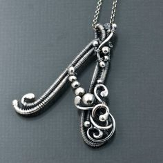 Custom Order - Fine Silver Initial Pendant - Letter A and S Pendant