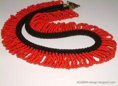 AGABEN.  Bead crochet with loop embellishment.
