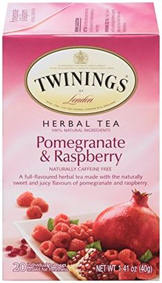 Twinings Herbal Tea, Pomegranate and Raspberry, 20 Count Bagged Tea (6 Pack) *** See this great product.