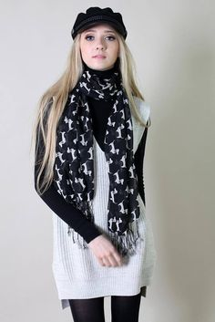 Adorable dachshund doxie sausage Weiner dog print scarf, screen-printed by hand, lightweight and buttery soft. Trendy, cute, versatile, a sure conversation starter, get ready for compliments! Versatile for both work or play, playful and casual style for the holiday season. Lightweight and
