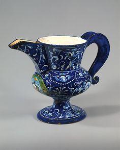 Armorial ewer (brocca)  Date: probably 1527 Culture: Italian, Faenza Medium: Maiolica (tin-glazed earthenware)