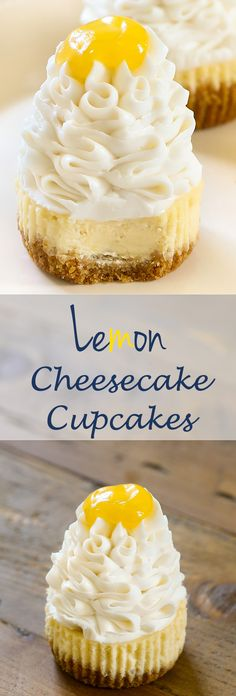 Lemon Cheesecake Cupcakes - Celebrate the arrival of summer with tart and tantalizing lemon cheesecake made with @SPLENDA   Sugar Blend.   #ad #SplendaSweeties #SweetSwaps