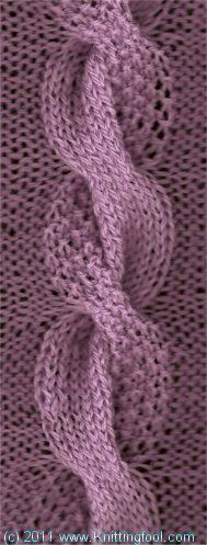 Dual Cable from knittingfool.com  --  Lots of free stitch patterns available.