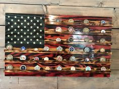 Challenge Coin Holder Rustic Glory - American Flag - Military Veteran Made in the USA- Torched Wood Flag - Wall Decor - Patriotic - Handmade Challenge Coin Holder, Challenge Coin Display, Challenge Coins, Coin Holder Military, Wood Projects, Woodworking Projects, Woodworking Videos, Woodworking Plans, Torch Wood