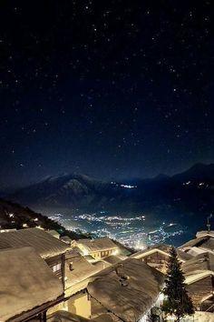 Noche estrellada, Suiza.: