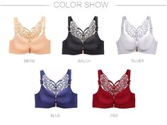 98d9f5f9e FallSweet Front Closure Bras No Wire Beauty Back Brassiere for Women Beauty  Back Plus Size Bra