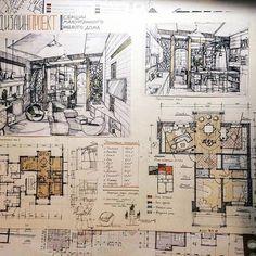 표현력 of nail artist - Nail Art Architecture Sketchbook, Architecture Board, Architecture Portfolio, Architecture Details, Interior Design Sketches, Interior Design Boards, Interior Rendering, Interior Design Presentation, Architecture Presentation Board
