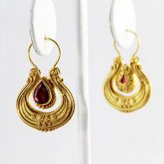 Marias Jewelry - byzantine inspired 18k ruby earrings
