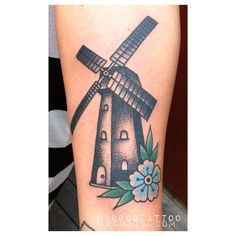 Windmill Tattoo   http://tattoos-ideas.net/windmill-tattoo/