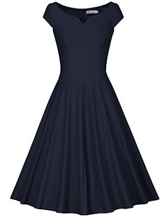 MUXXN Damen Retro 50s 60s Hahnentritt Party Swing Kleid