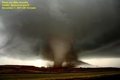 FEATURE CHASER PHOTO! Today goes to TVN's own Mike Scantlin for this incredible shot of one of the strong tornadoes from the November 7, 2011 tornado event in southwest Oklahoma.    You can follow Mike's work on Facebook Severe Hail Intercept Team and on Twitter @stormchasetv     The Dominator 2 intercepted an earlier EF4 tornado on this day near Tipton, OK on Episode 1 of Tornado Chasers... Check it out on http://tvnweather.com/ondemand
