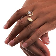 925 sterling silver Jewelry for women Celebrity Style Pearl Twosome Ring Gift Pearl Jewelry, Jewelry Art, Jewelry Rings, Silver Jewelry, Jewelry Design, Women Jewelry, Unusual Rings, Contemporary Jewellery, Jewerly