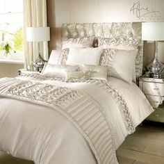 Buy Kylie Felicity Duvet Cover from the Next UK online shop Luxury Bedding Collections, Luxury Bedding Sets, Coastal Bedrooms, Luxurious Bedrooms, Bedding Master Bedroom, Bedroom Decor, Bed Cover Design, King Size Duvet Covers, Cheap Bed Sheets