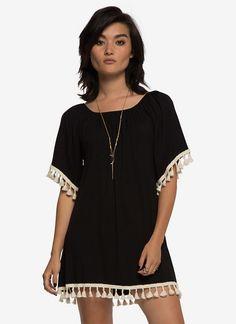 Off-The-Shoulder Fringe Dress | Dresses