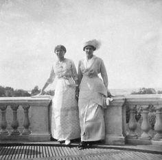 "Hrand Duchess Olga Nikolaevna Romanova of Russia at Peterhof in 1914. ""AL"""