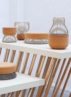 Objects of aluminum and cork by Dutch designer Daphna Laurens (Dutch Invertuals, Milan 2012)